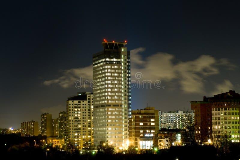 Еженощный городской пейзаж стоковая фотография rf