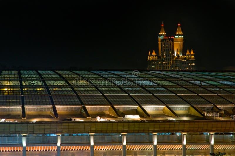 Еженощный городской пейзаж стоковые фотографии rf