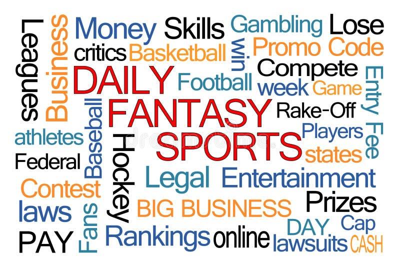Ежедневное облако слова спорт фантазии бесплатная иллюстрация