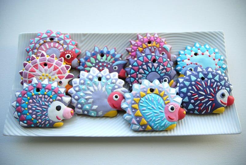 Еж, печенья рождества для детей стоковые изображения