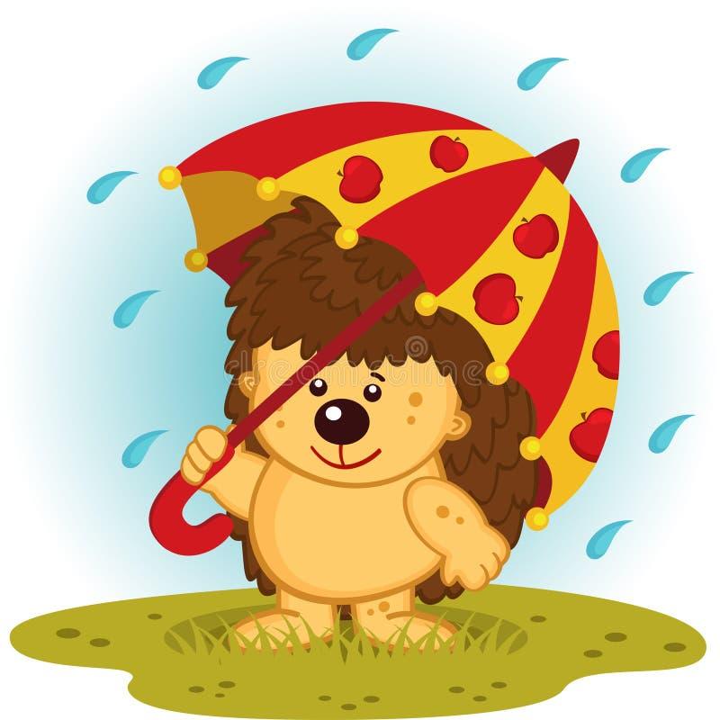 Картинки мультяшные ежик под дождем