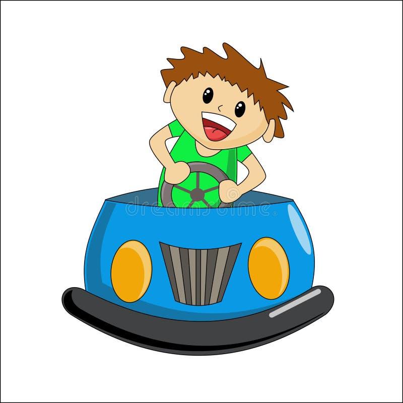 езда автомобиля бампера иллюстрация вектора