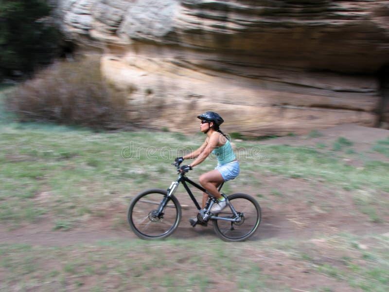 езда горы bike стоковая фотография