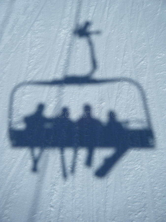 езда chairlift стоковые фотографии rf