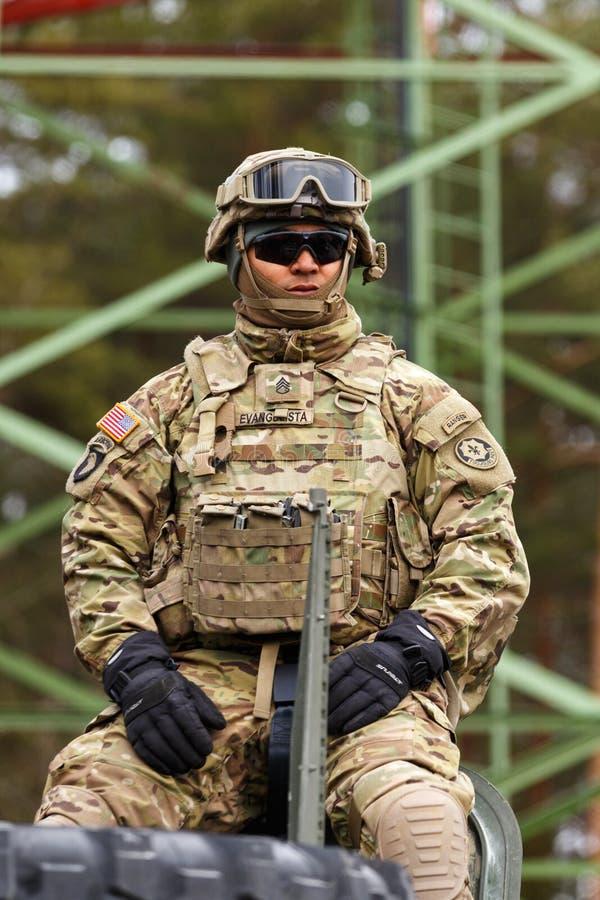 Езда драгуна армии США стоковая фотография rf