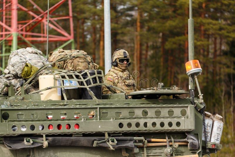 Езда драгуна армии США стоковая фотография