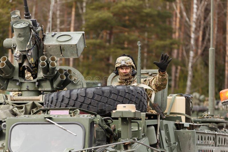 Езда драгуна армии США стоковое изображение