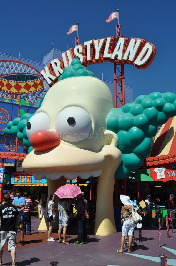 Езда Simpsons на студиях Universal Holliwood стоковое фото