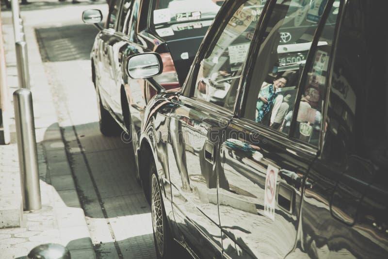 Ездите на такси место ожидания около парка Ueno в токио стоковые изображения