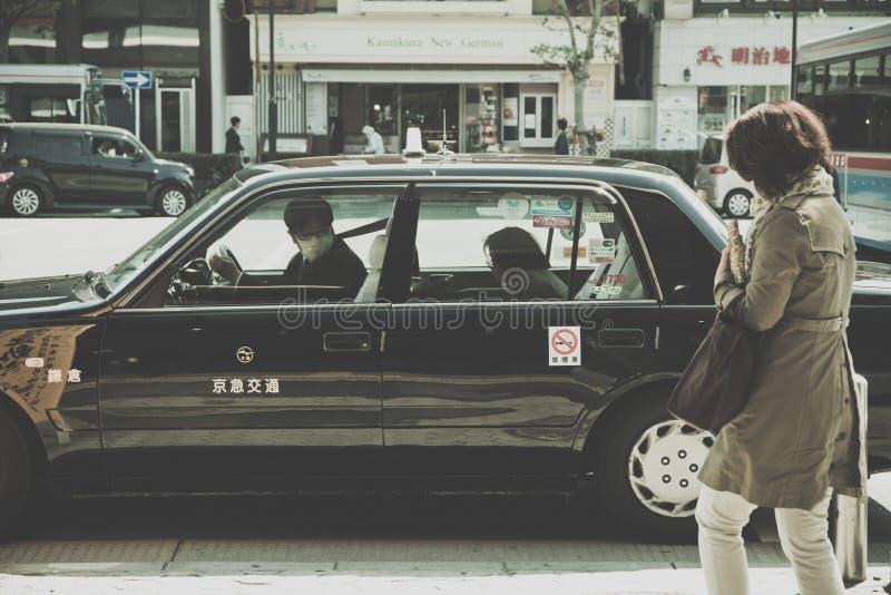 Ездите на такси место ожидания около парка Ueno в токио стоковые фото
