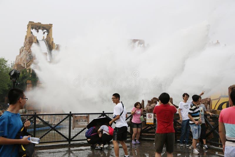 Езды воды в счастливой долине Пекине стоковые изображения rf