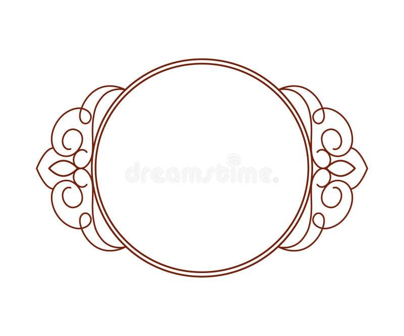 декоративные рамки Винтаж Колодец построенный для легкий редактировать иллюстрация вектора