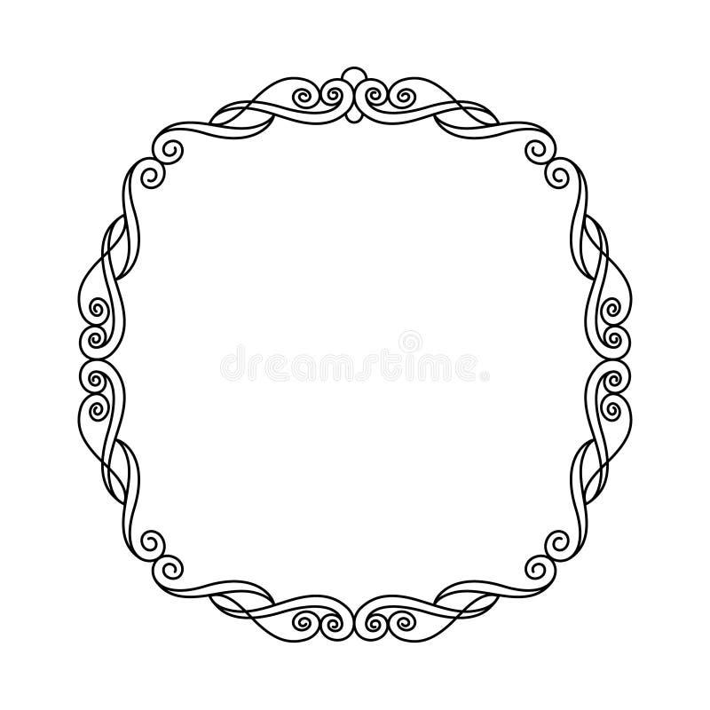 декоративные рамки также вектор иллюстрации притяжки corel Черная белизна иллюстрация штока