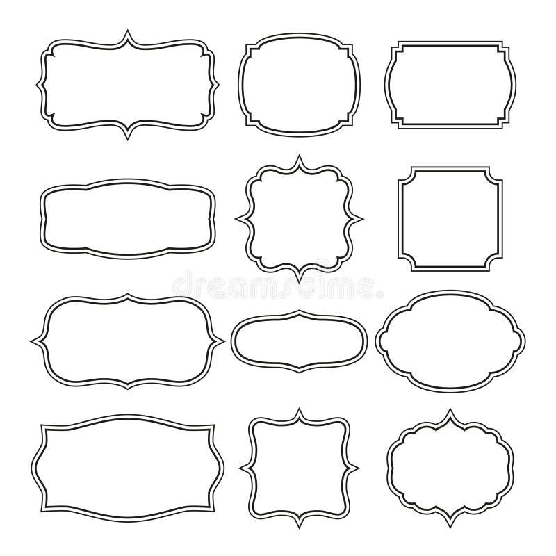 декоративные рамки иллюстрация вектора