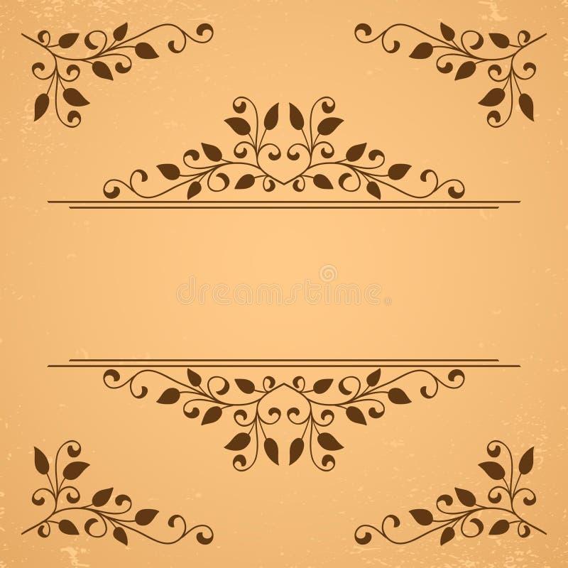 декоративные элементы флористические иллюстрация вектора