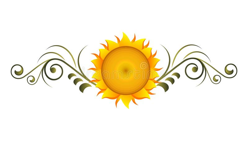 декоративный солнцецвет бесплатная иллюстрация