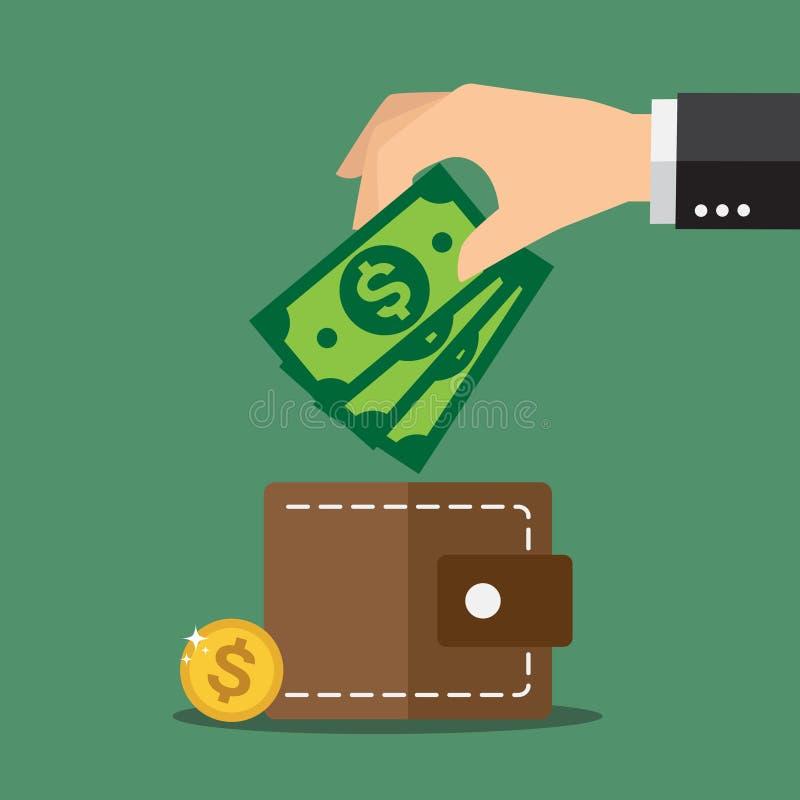 деньги сохраняют иллюстрация штока