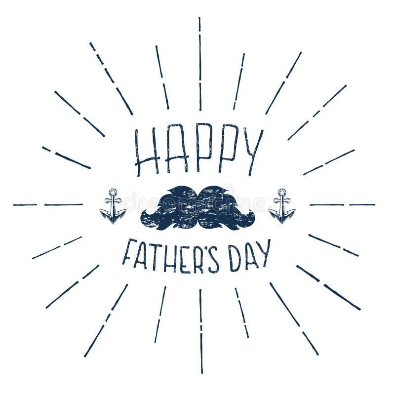 день будет отцом счастливого Рукописное Grunge каллиграфическое иллюстрация вектора