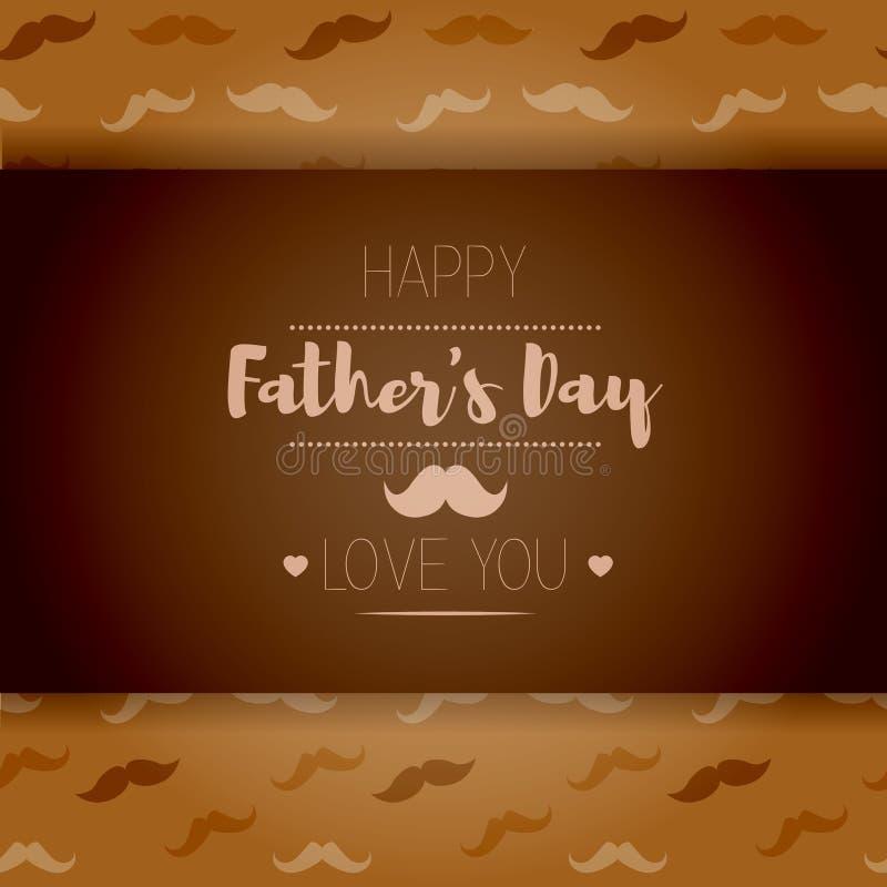 день будет отцом счастливого Стиль битника Карточка с усиком иллюстрация штока