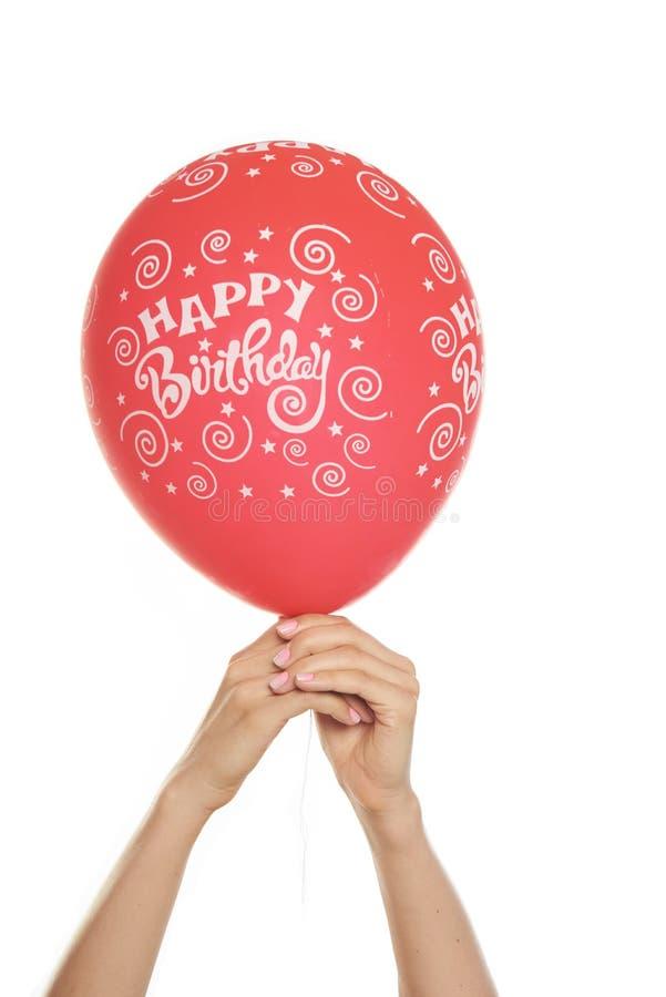 день рождения воздушного шара счастливый стоковые изображения