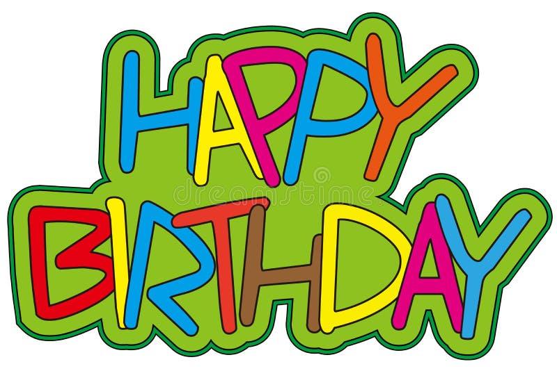 день рождения счастливый иллюстрация штока