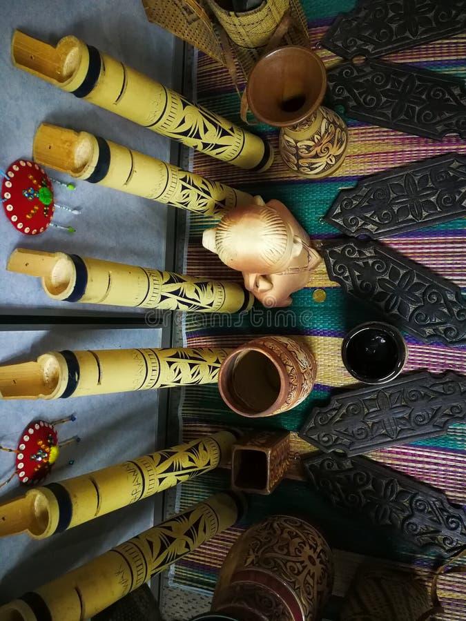 день фестиваля gawai украшения стоковая фотография rf