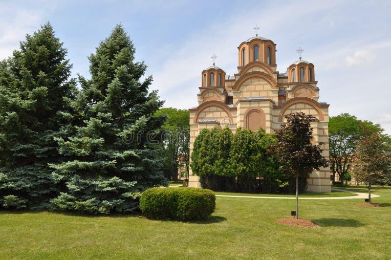 Епархия новой задворк православной церков церков Gracanica сербской стоковое изображение