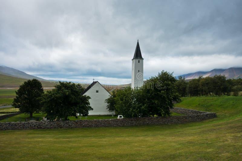 Епархия Holar и первое место университета, старых и известных стоковые фото