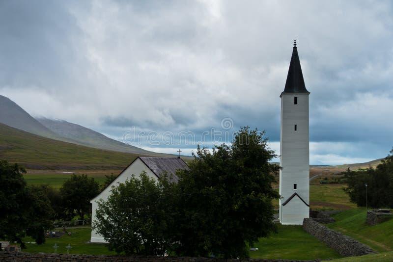 Епархия Holar и первое место университета, старых и известных стоковое фото