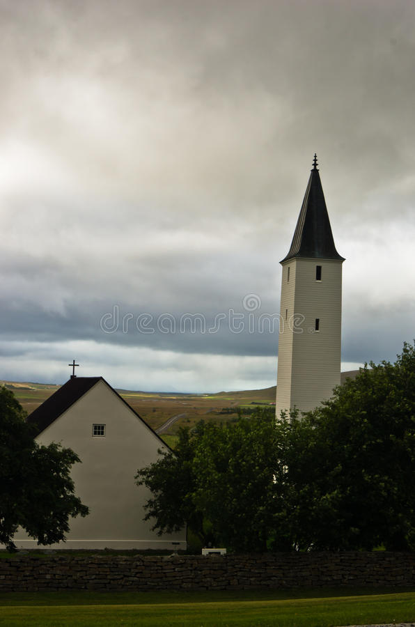 Епархия Holar и первый университет, известное место в Исландии стоковые изображения