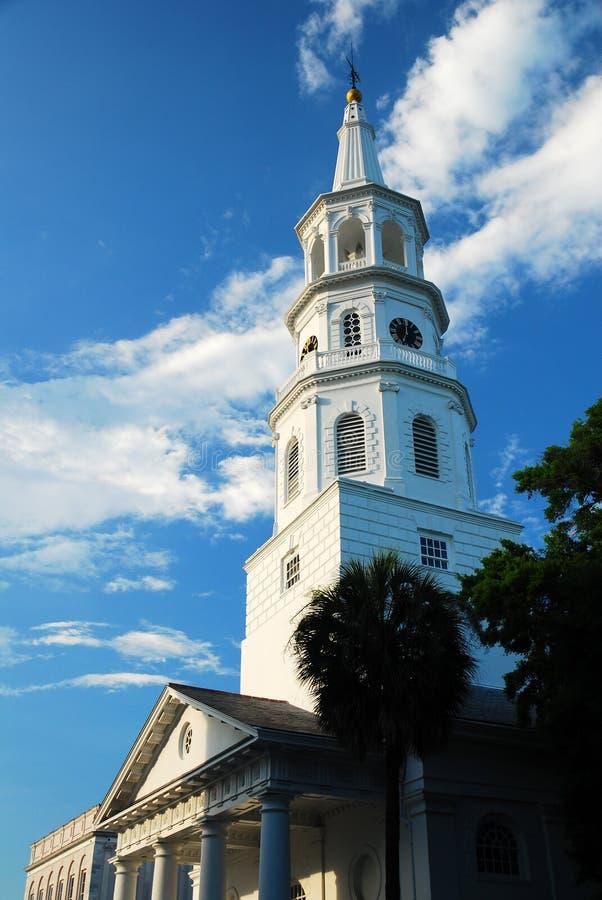 Епископальная церковь St Michaels, Чарлстон стоковые фотографии rf