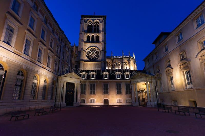 Епископ Лиона на закате, Лион, Франция стоковое изображение rf