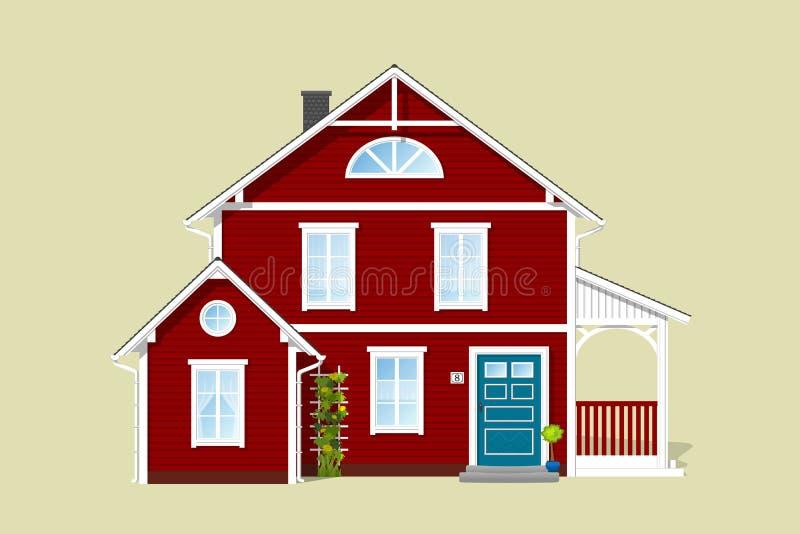 деревенский дом славный иллюстрация вектора