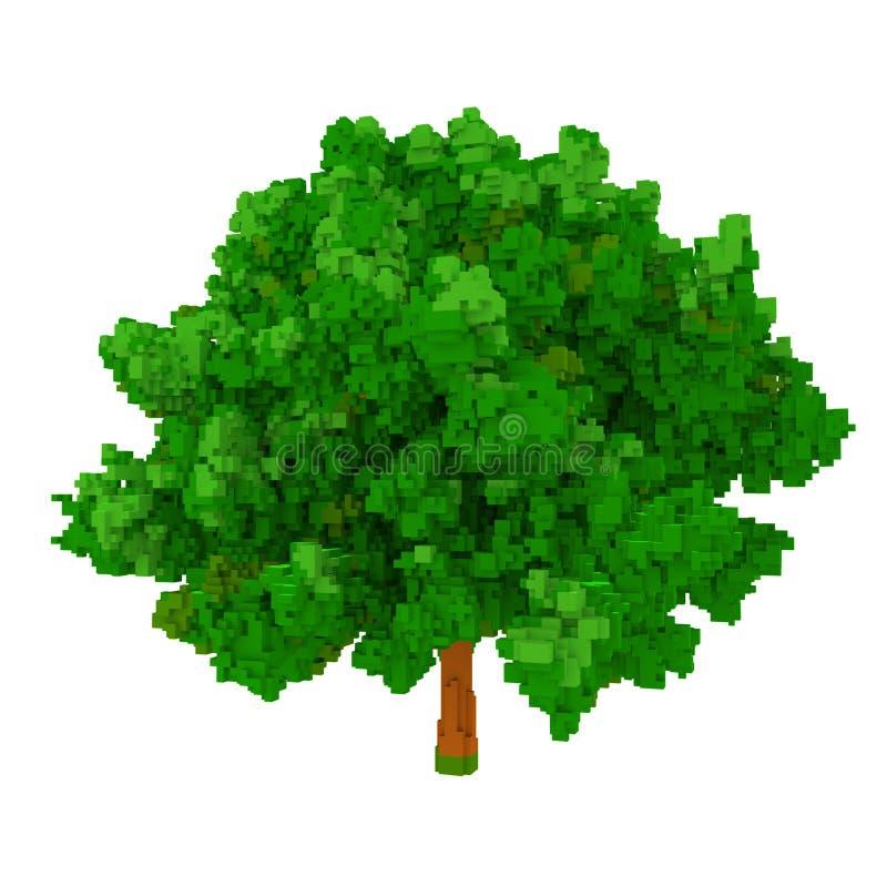 дерево voxel 3d бесплатная иллюстрация
