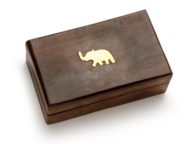 деревянное коробки закрытое квадратное стоковое фото rf