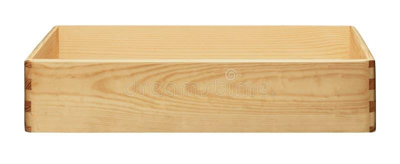 деревянное коробки пустое стоковое изображение