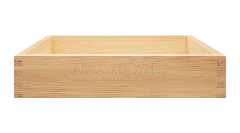 деревянное коробки пустое стоковые изображения