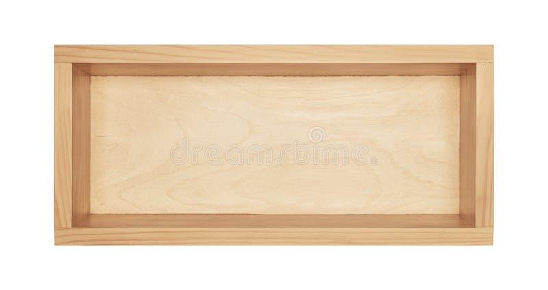 деревянное коробки пустое стоковая фотография