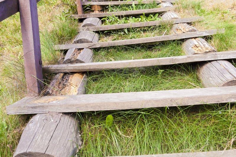 деревянное трапа старое стоковая фотография