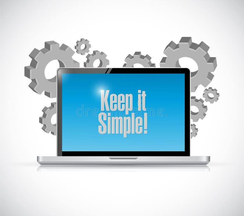 держите его простой знак электроники технологии бесплатная иллюстрация