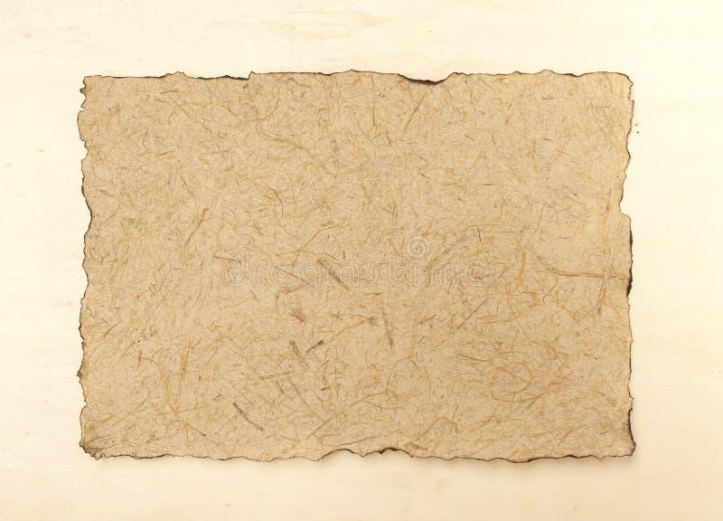 Естественная бумажная текстура на земле задней части древесины стоковые фотографии rf