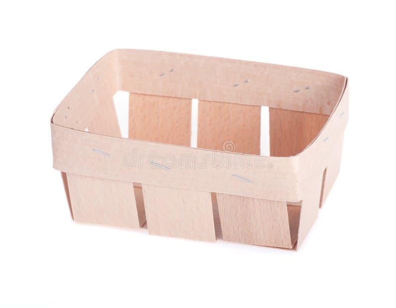 Естественная высокая деревянная коробка стоковое изображение rf