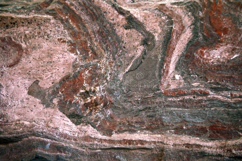 Естественная предпосылка утеса - гематит в кальците и яшме стоковое изображение rf