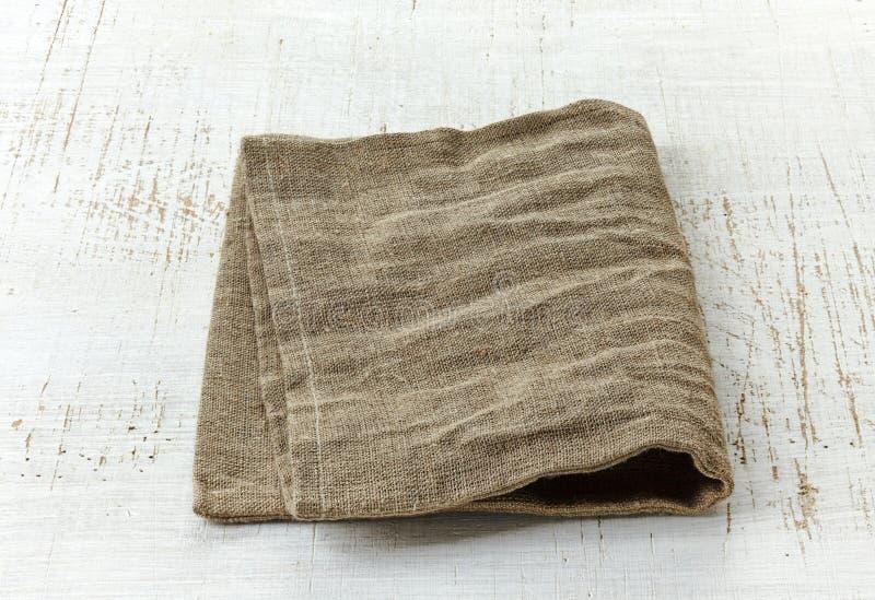 Естественная linen салфетка стоковое изображение