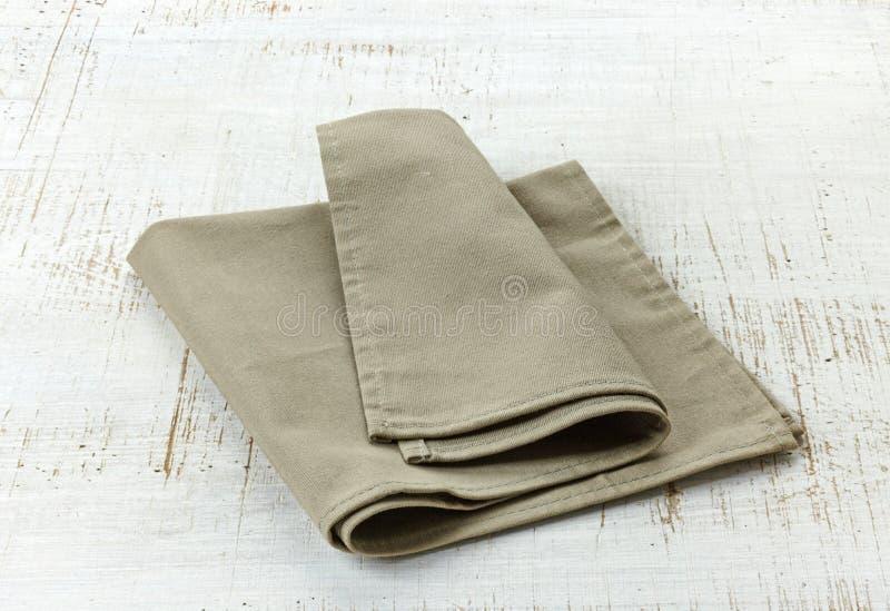 Естественная linen салфетка стоковые изображения rf