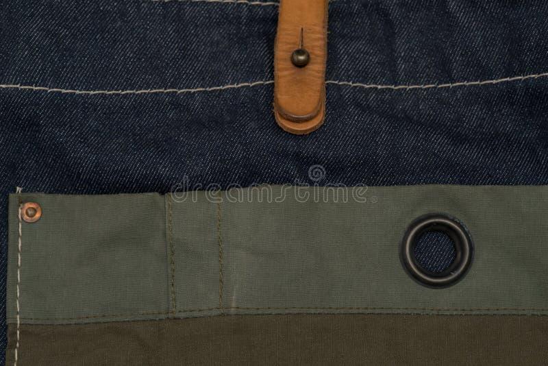 Естественное белье striped грубая текстурированная зеленая ткань /green ткани стоковые фотографии rf