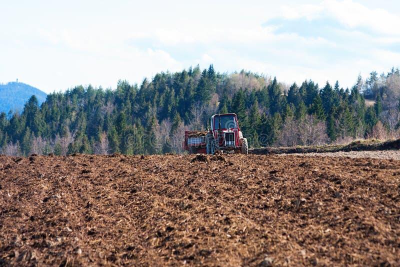Естественное землеудобрение поля стоковая фотография rf