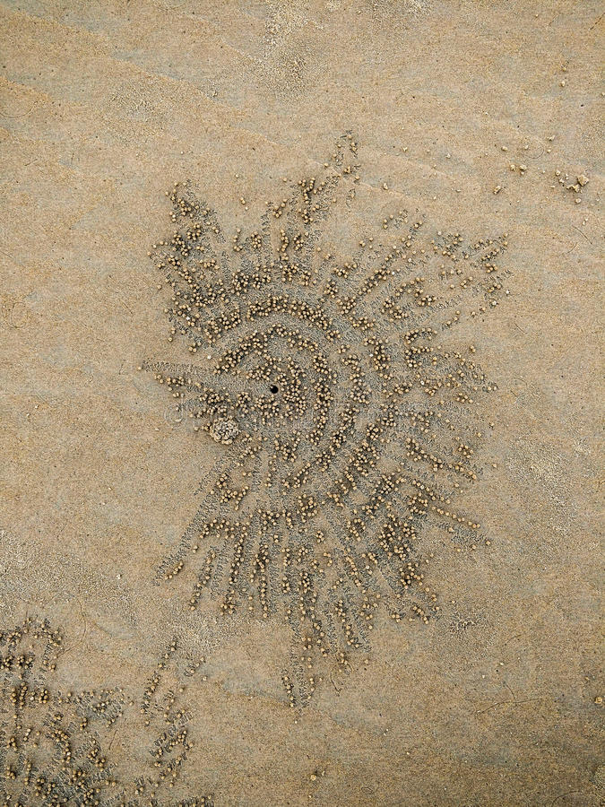Естественное искусство песка стоковое изображение