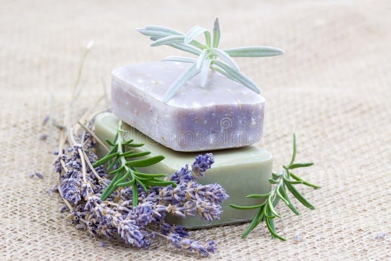 Естественное мыло с травами стоковое изображение rf