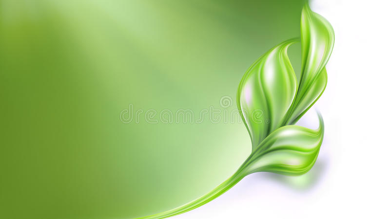 естественное предпосылки зеленое иллюстрация штока